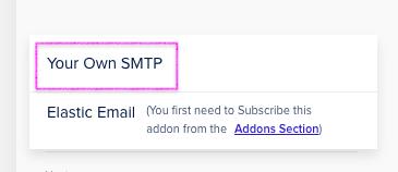 בחרנו באופציה Your Own SMTP