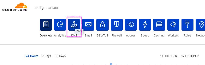 הגדרות DNS